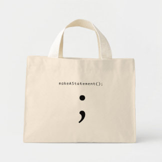 Make A Statement Mini Tote Bag