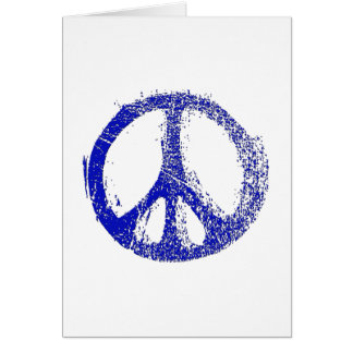Make a Statement with grunge PEACE SIGN Card