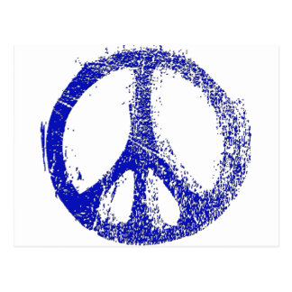 Make a Statement with grunge PEACE SIGN Postcard