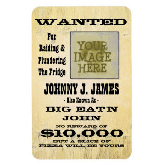 Make a Wanted Poster Funny Fridge Magnet