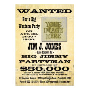 Make a Western Party Wanted Poster Invitation Card