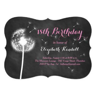 Make a Wish! 18th Birthday Invitation (pink)