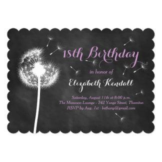 Make a Wish! 18th Birthday Invitation (purple)