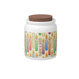 """Make a Wish"" Birthday Candles Candy Jar"
