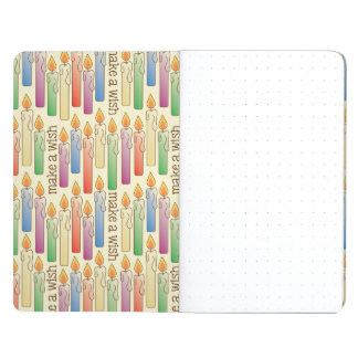 """Make a Wish"" Birthday Candles Pocket Journal"