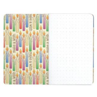 """Make a Wish"" Birthday Candles Pocket Journal"