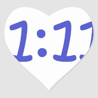 make a wish- blue heart sticker
