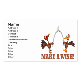 Make A Wish Double-Sided Standard Business Cards (Pack Of 100)