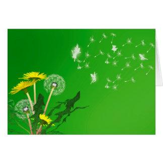 Make a wish dandelion card