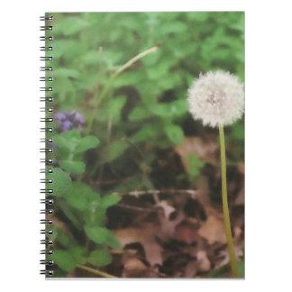 """Make A Wish"" Dandelion Notebook"