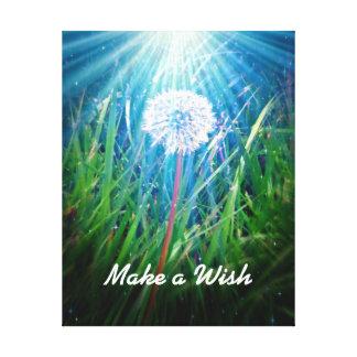Make a Wish Dandelion Wrapped Canvas