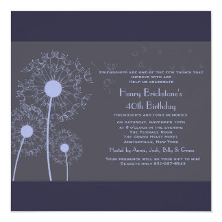 Make a Wish Dandelions Invitation