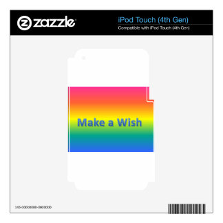 make a wish decal for iPod touch 4G