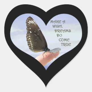 Make a Wish Dreams do come true Heart Sticker