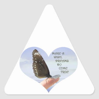 Make a Wish Dreams do come true Triangle Sticker