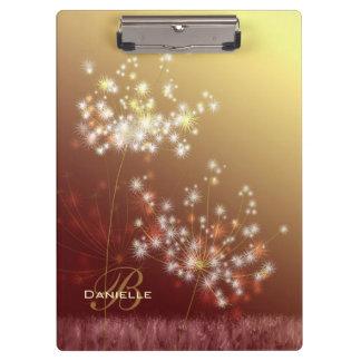 Make a Wish Fall Dandelions Monogram Clipboard