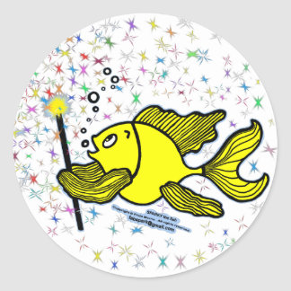 Make a wish Fish Classic Round Sticker