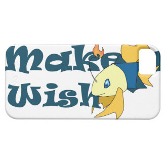 """""""Make a Wish"""" Fish iPhone 5/5s Cover White"""