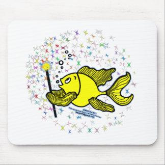 Make a wish Fish Mouse Pad