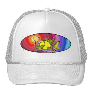 Make a wish Fish Oval Trucker Hat