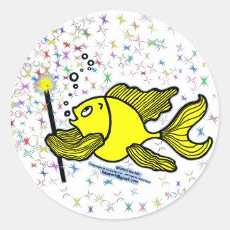 Make a wish Fish Sticker