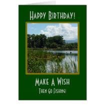 Make A Wish Fishing Birthday Card