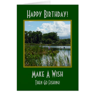 Make A Wish Fishing Birthday Card