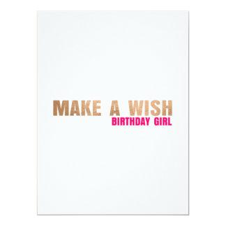 MAKE A WISH FLAT BIRTHDAY GREETING CARD