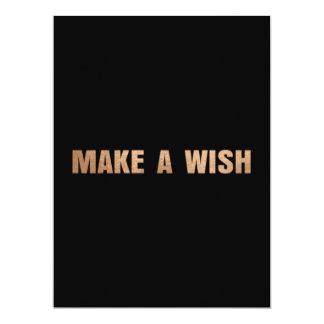 MAKE A WISH FLAT GREETING CARD