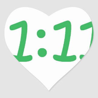 Make a wish- green heart sticker
