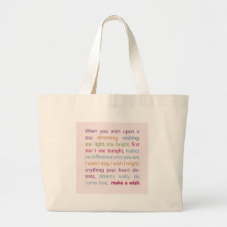 Make a Wish Large Tote Bag