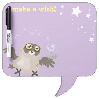 Make a Wish! Owl Dry-Erase Board