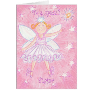 Make a Wish 'Special Sister' birthday card
