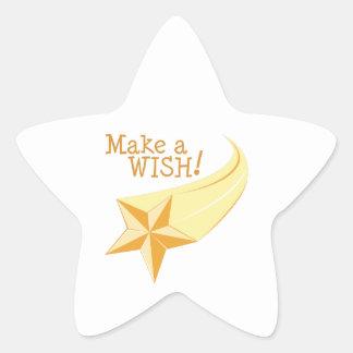 Make a Wish Star Sticker