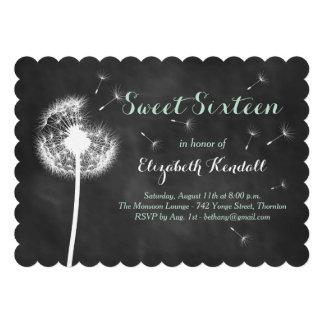 Make a Wish Sweet Sixteen Invitation mint