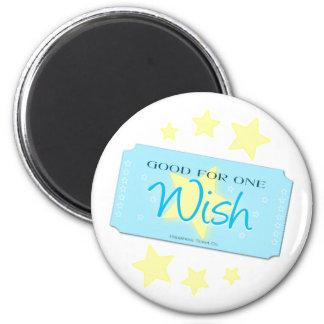 Make a Wish Ticket 2 Inch Round Magnet