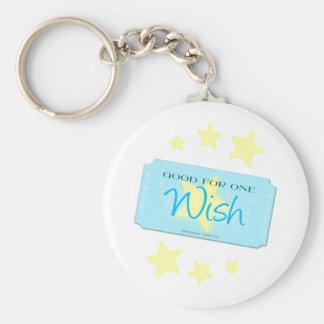 Make a Wish Ticket Keychain