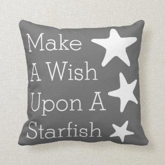 Make A Wish Upon A Starfish Throw Pillow