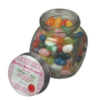 Make a World's Best Co-worker Certificate Glass Candy Jar