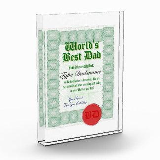 Make a World's Best Dad Certificate Award