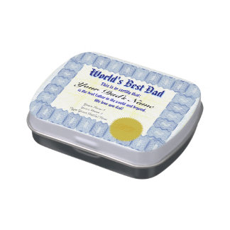 Make a World's Best Dad Certificate Candy Tins