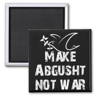 Make Abgusht Not War 2 Inch Square Magnet