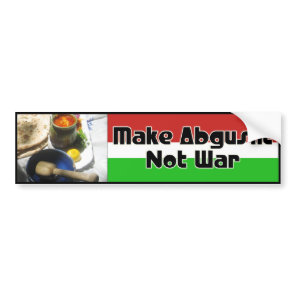 Make Abgusht Not War Bumper Sticker