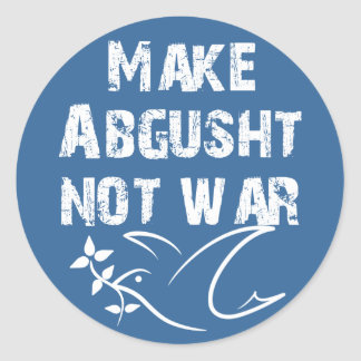 Make Abgusht Not War Classic Round Sticker