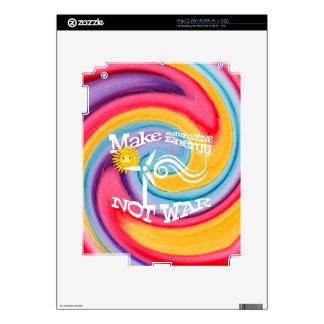Make Alternative Energy Not War Tie Dye iPad 2 Decal