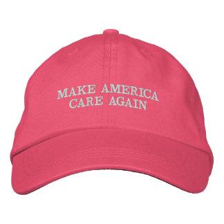 MAKE AMERICA CARE AGAIN - MACA EMBROIDERED BASEBALL HAT