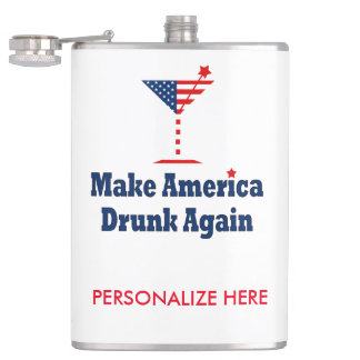 MAKE AMERICA DRUNK AGAIN FLASK