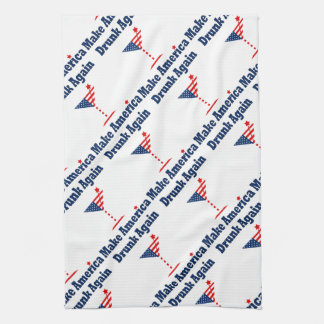 MAKE AMERICA DRUNK AGAIN HAND TOWEL