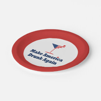 MAKE AMERICA DRUNK AGAIN PAPER PLATE