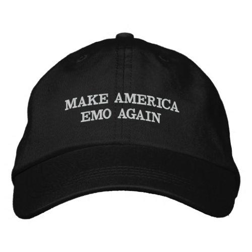 MAKE AMERICA EMO AGAIN EMBROIDERED BASEBALL CAP